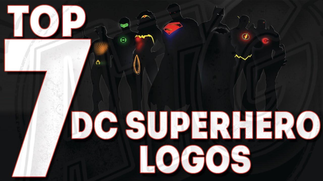 top 7 dc superhero logos youtube