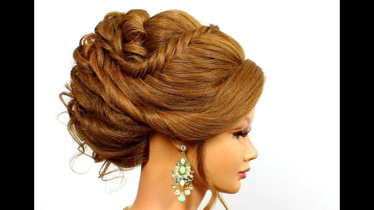 Updo Hairstyle For Long Hair Tutorial  YouTube