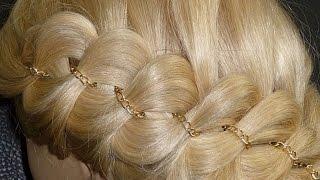 Коса из 4 прядей. Причёска для средних/длинных волос. Плетение косички для начинающих. Мастер класс