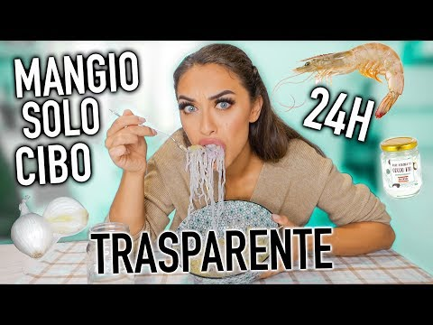 MANGIO SOLO CIBO *TRASPARENTE* PER 24H! - EATING ONLY CLEAR FOOD