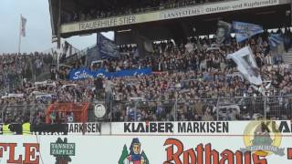 Karlsruher SC fans with a chant for their banned lads!