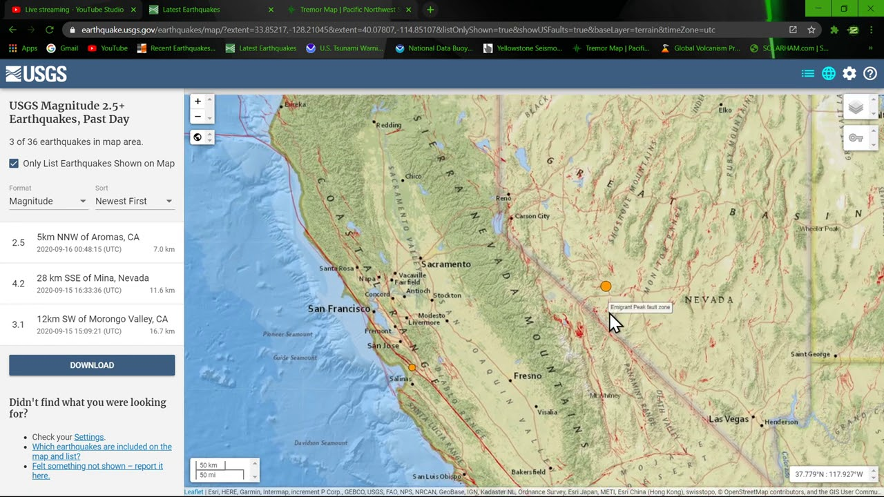 Earthquake update video Tuesday evening 9/15/2020