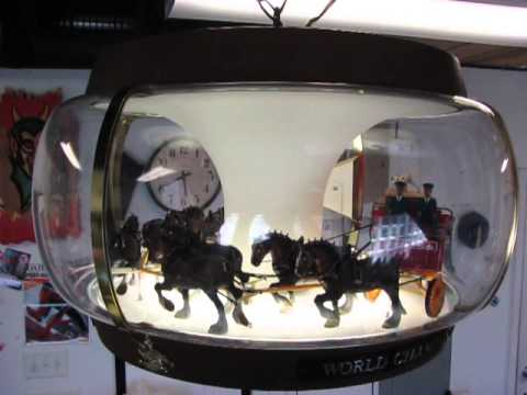 Vintage 1971 budweiser clydesdales parade unit rotating hanging bar vintage 1971 budweiser clydesdales parade unit rotating hanging bar light lamp aloadofball Image collections