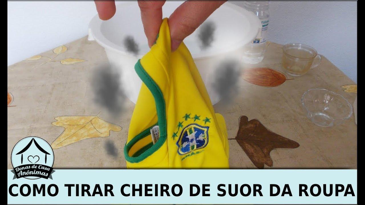 Artesanato De Palha Origem ~ 3 dicas de como tirar cheiro de suor da roupa YouTube