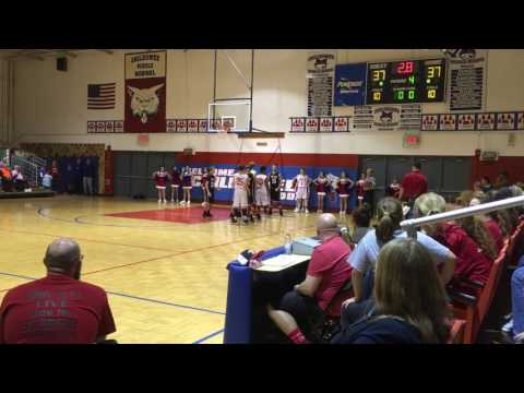 Eddie made the winning shot.  Chilhowee Middle School vs Tellico Plains Junior High School. 01/13/17