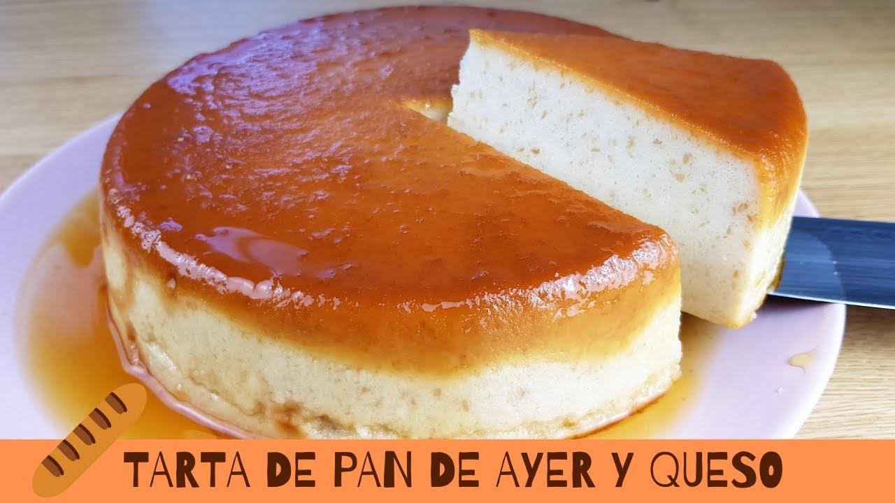 TARTA de PAN de AYER y QUESO (Receta de aprovechamiento)