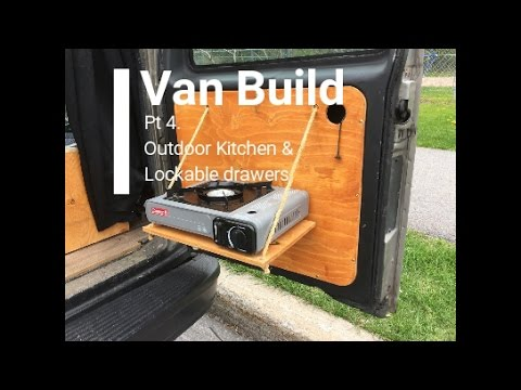 Camper Van Conversion Build Pt 4 Outdoor Kitchen Stealth Off The Grid Life
