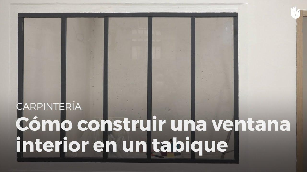 Construye una ventana interior en un tabique bricolaje - Como hacer puertas de armario ...