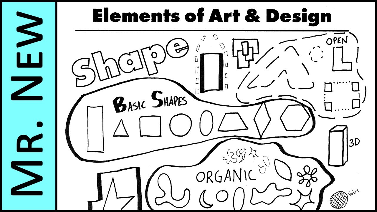 Shape Form And Space In Art : All about shapes understanding the elements of art and