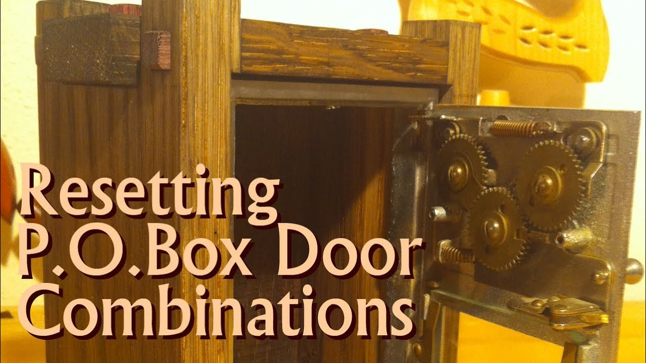 - Post Office Box Door - Resetting The Combination - YouTube