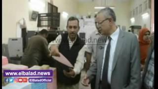 محافظ المنيا يتابع سير العمل بالمطبعة.. فيديو وصور