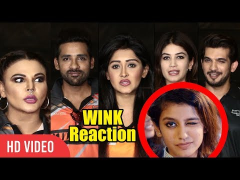 TV Celebs Reaction Priya Prakash Varrier's Wink | The Oru Adaar Love