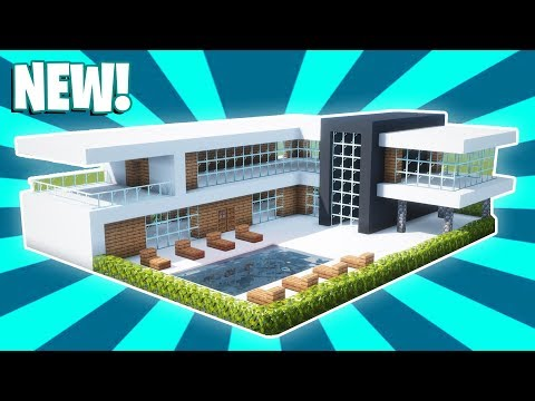 Minecraft : How To Build A Small Modern House Tutorial (#17)