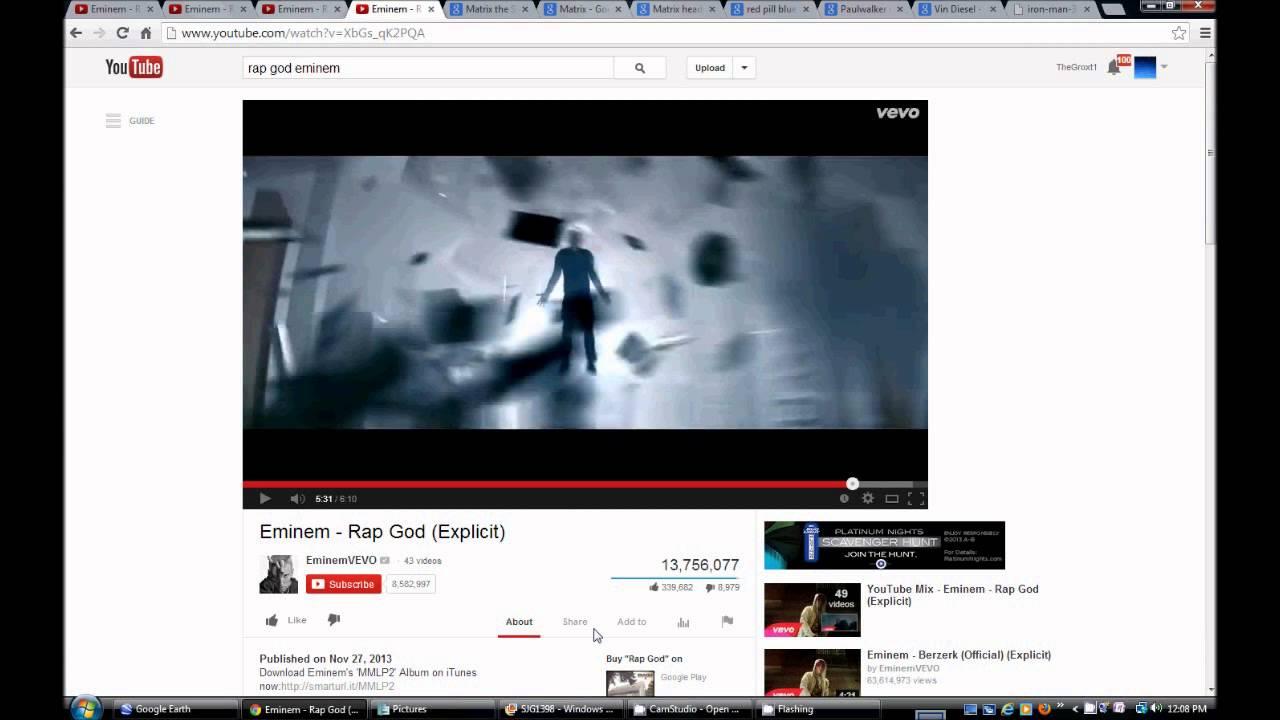 Eminem Rap God. Illuminati Freemason Symbolism. The  Smith.