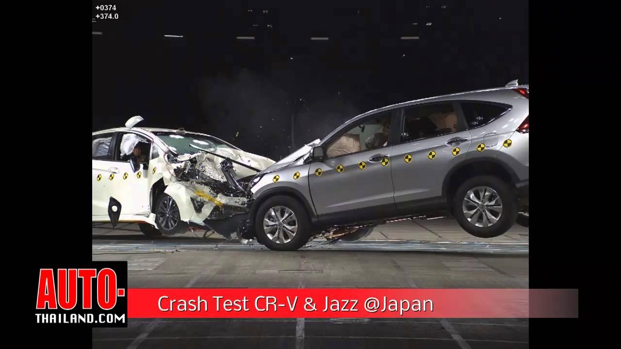 Crash test honda cr v honda jazz japan youtube for Honda crv crash test