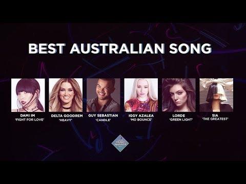 Top 50 Music Awards 2017 - Best Australian Song Nominees