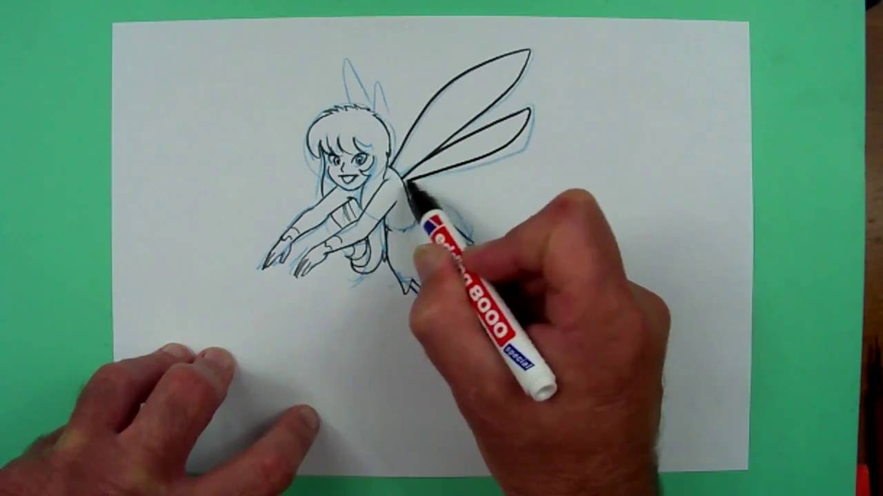 Wie Zeichnet Man Eine Elfe Zeichnen Für Kinder Youtube