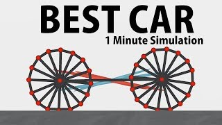 Evolving a car FINALE! Fully working 1 min simulations | Evolution Simulator
