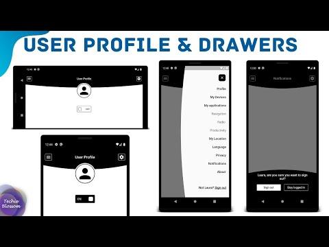 User Profile & Drawers   Flutter UI