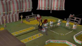 Runescape - Doing Tightrope Routine in Normal Clothing