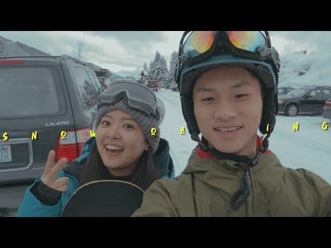 FIRST TIME SNOWBOARDING!!! HAD SO MUCH FUN XD w/indosub