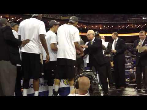 Vanderbilt celebrates 2012 SEC basketball tournament champi