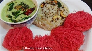 Healthy Breakfast Menu Recipe 2-Kuthiraivali (Barnyard) Pongal Recipe-Beetroot Idiyappam Recipe