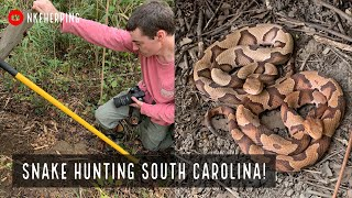 Insane South Carolina Snake Hunting! Finding A LOT of Snakes Under Tin and Car Hoods!