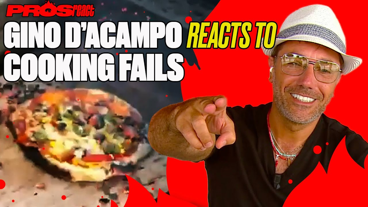 Gino D'Acampo Reacts To Cooking FAILS   Pros React   @LADbible TV