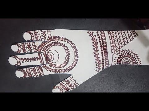 Beautiful and simple Hina Mehndi design tutorial thumbnail