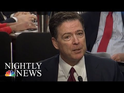 James Comey Lashes Out At President Donald Trump In Soon-To-Be Released Book | NBC Nightly News