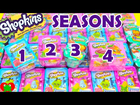 Shopkins Season 1 2 3 4 Blind Baskets Opening Toy Genie Surp