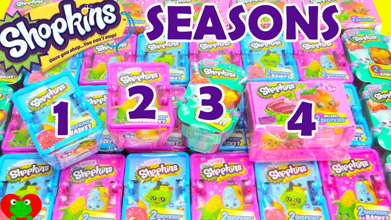 Shopkins Season 1 2 3 4 Blind Baskets Opening Toy Genie Surprises Youtube