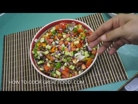 Black Eyed Peas Salad - Mexican Salad - Vegan Salad - Diet Ideas -  Healthy Salad - Bean Salad