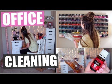 Cleaning, De-Cluttering & Organizing My Office! 2019 thumbnail