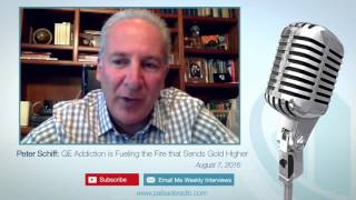 Peter Schiff: QE Addiction is Fueling the Fire that Sends Gold Higher