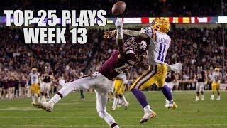 College Football Top 25 Plays 2018-19 || Week 13 ᴴᴰ