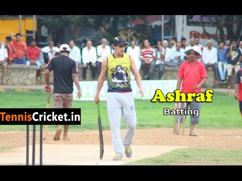 Ashraf Khan batting in Rubbar Ball tournament in vikhroli
