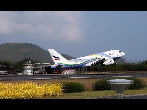 Bangkok Airways Take off (Koh Samui Airport)