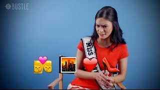 Miss Universe Pia Wurtzbach Guesses Movie Emojis