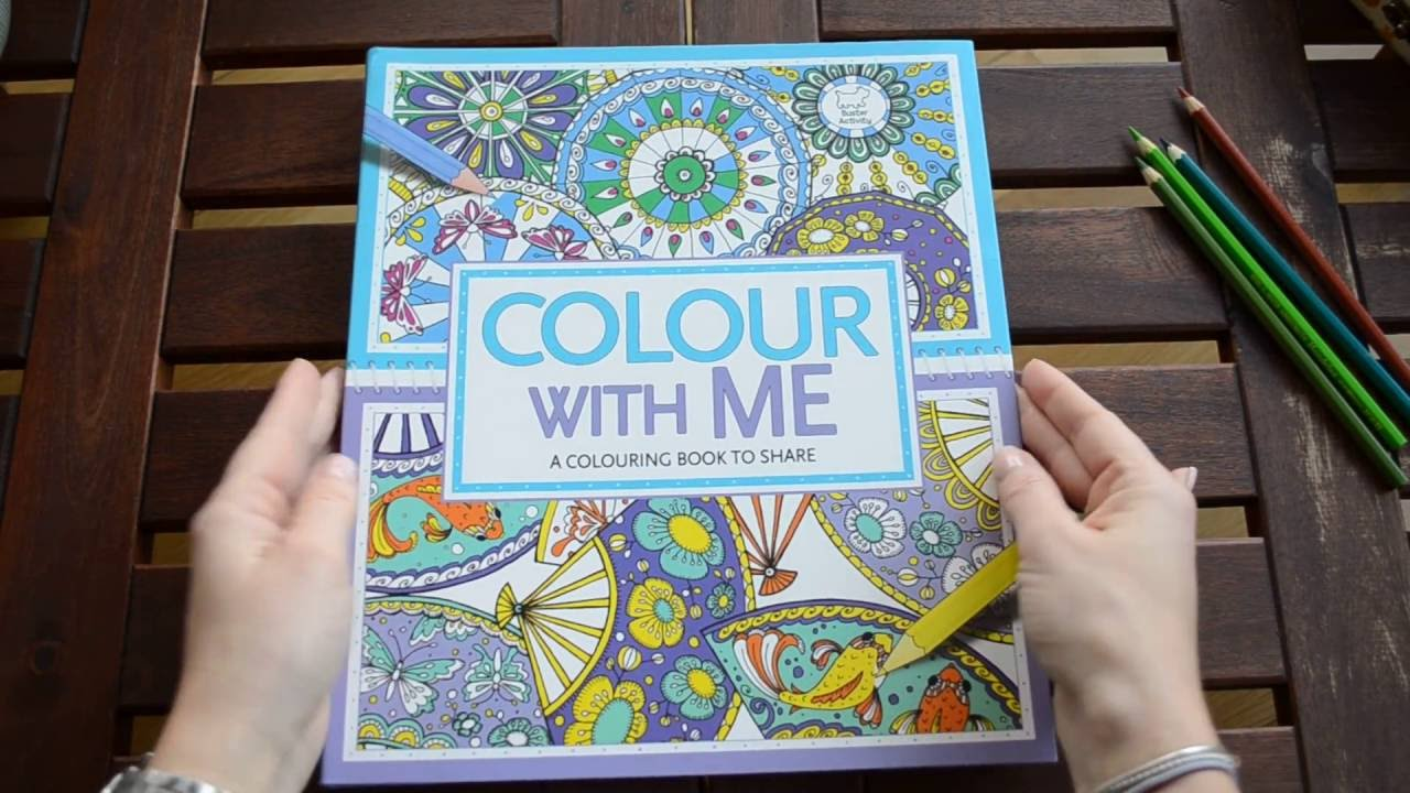 Color With Me - A Coloring Book To Share - flip through - YouTube