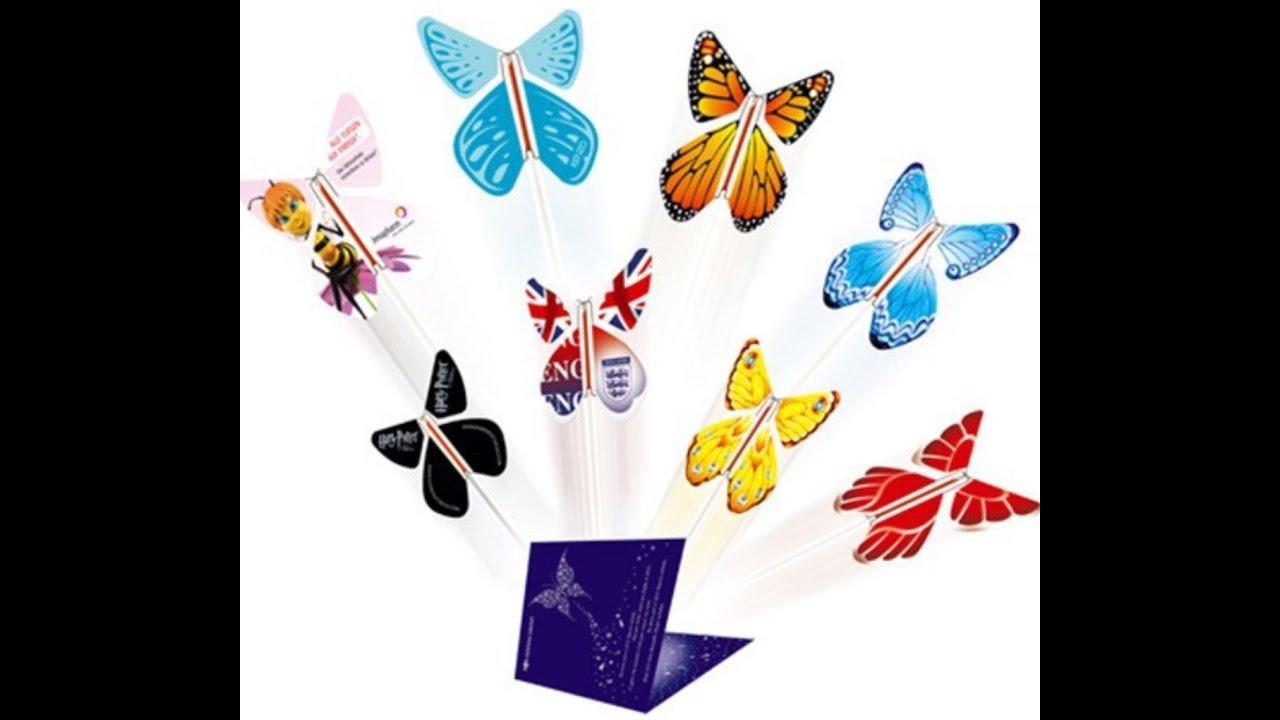 Для, летающая бабочка в открытку
