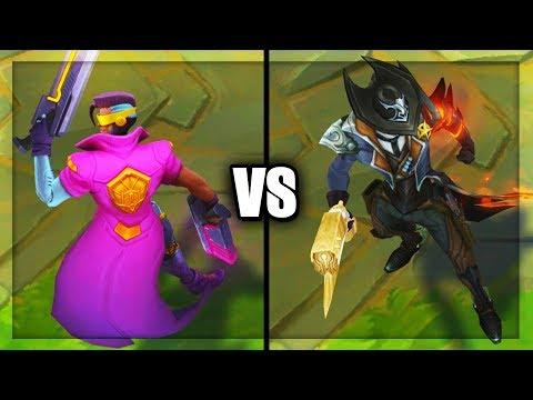 Demacia Vice Lucian vs High Noon Lucian Legendary vs Epic Skins Comparison (League of Legends)