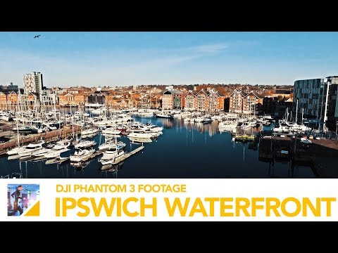 DJI Phantom 3 Standard Drone Footage - Our Ipswich Waterfront Location