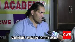 CWE l LIVING INDIA NEWS COVERED INTERVIEW ABOUT JOURNEY OF THE GREAT KHALI