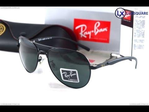 6f9385b134 Ray Ban Aviator Tech RB8014 Black (copy) - YouTube