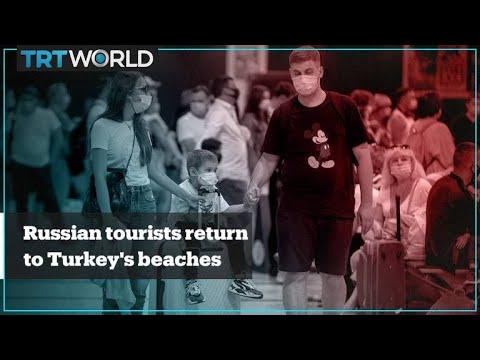 Russian tourists return to Turkey's beaches
