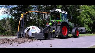 Fendt 211 Vario with Stehr trench cutter SGF 600 DL with cable laying device