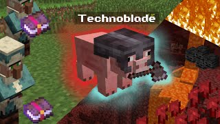 Technoblade spends 5 hours finding netherwart in Dream SMP (Highlights)