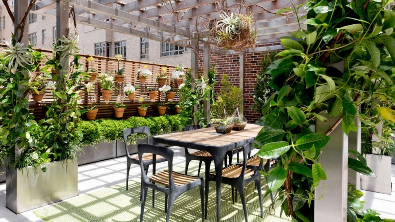 Garden Design Ideas, City Gardens - YouTube on Backyard Patio Layout id=41156
